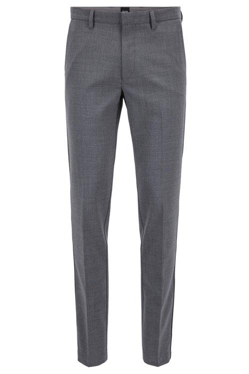 Hugo Boss - Slim-fit chinos in mercerised stretch fabric - 1