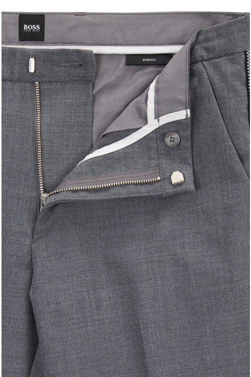 Hugo Boss - Slim-fit chinos in mercerised stretch fabric - 4