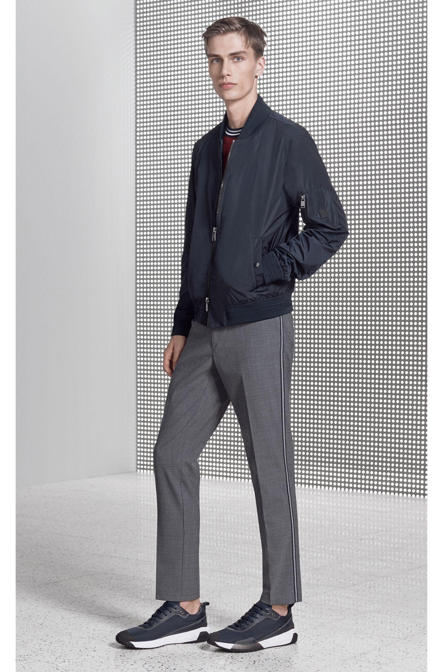 Hugo Boss - Slim-fit chinos in mercerised stretch fabric - 5