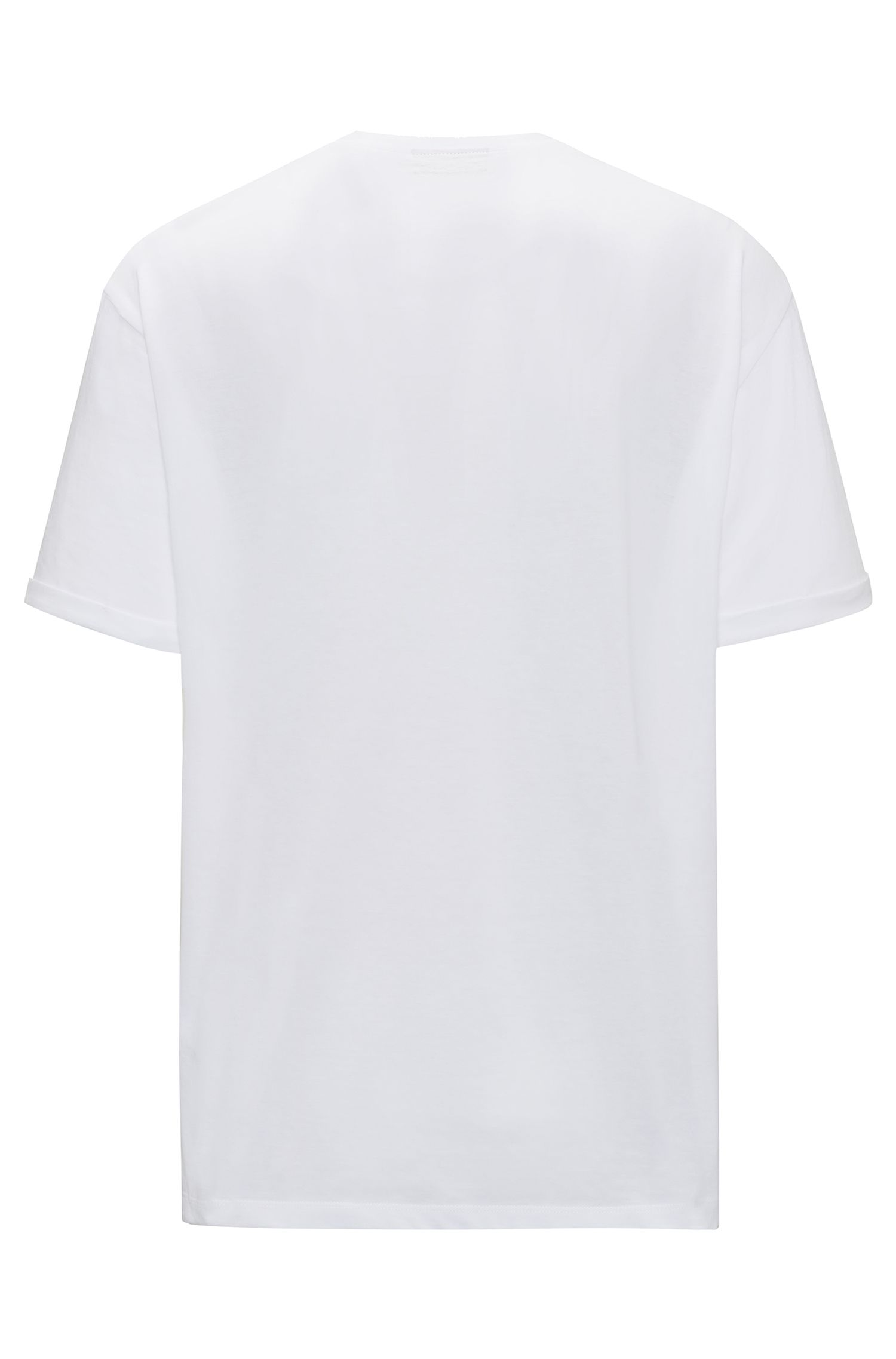Relaxed-fit T-shirt in cotton with reverse logo print, White