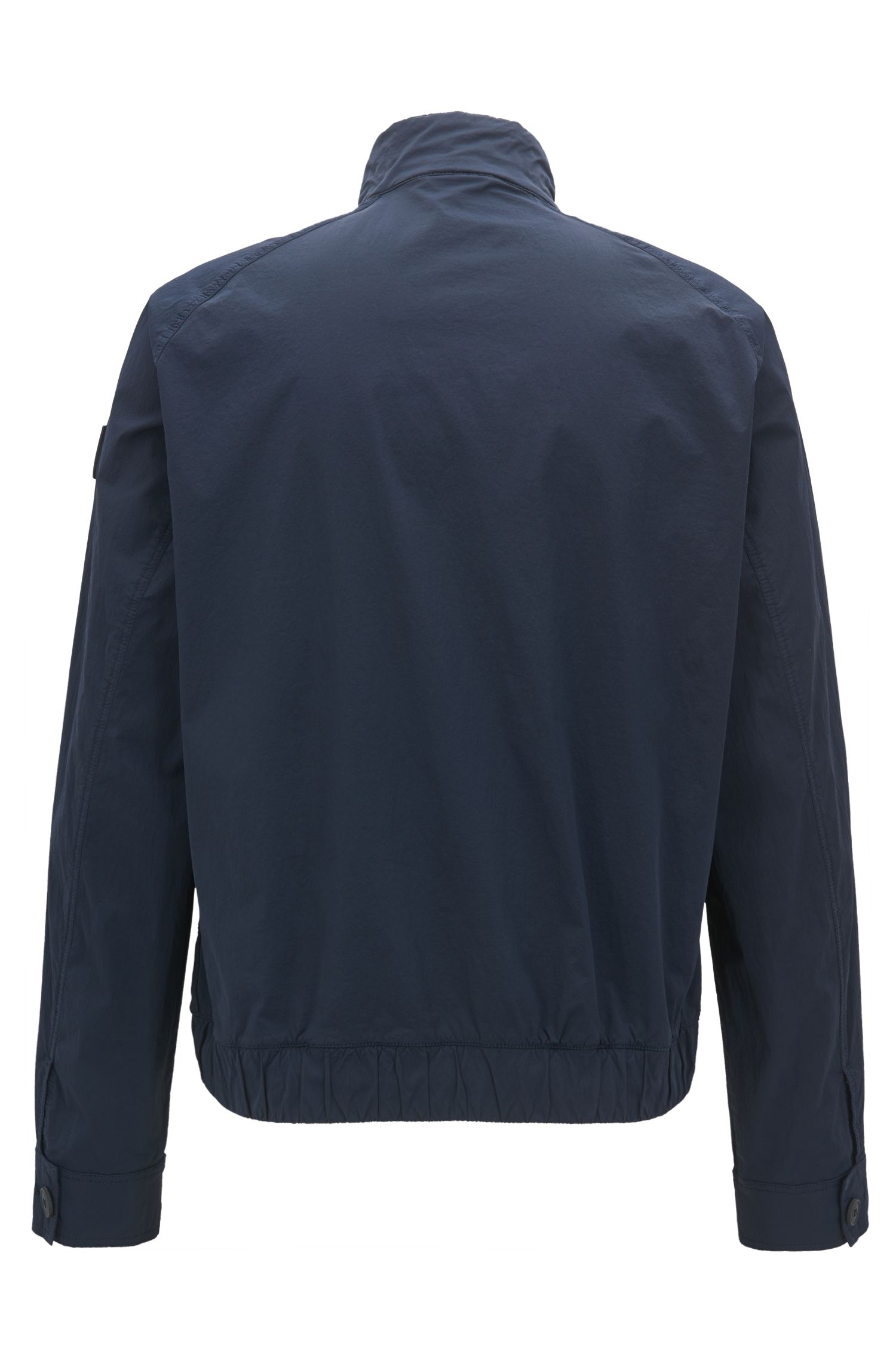 Lightweight jacket in wrinkle-effect stretch fabric