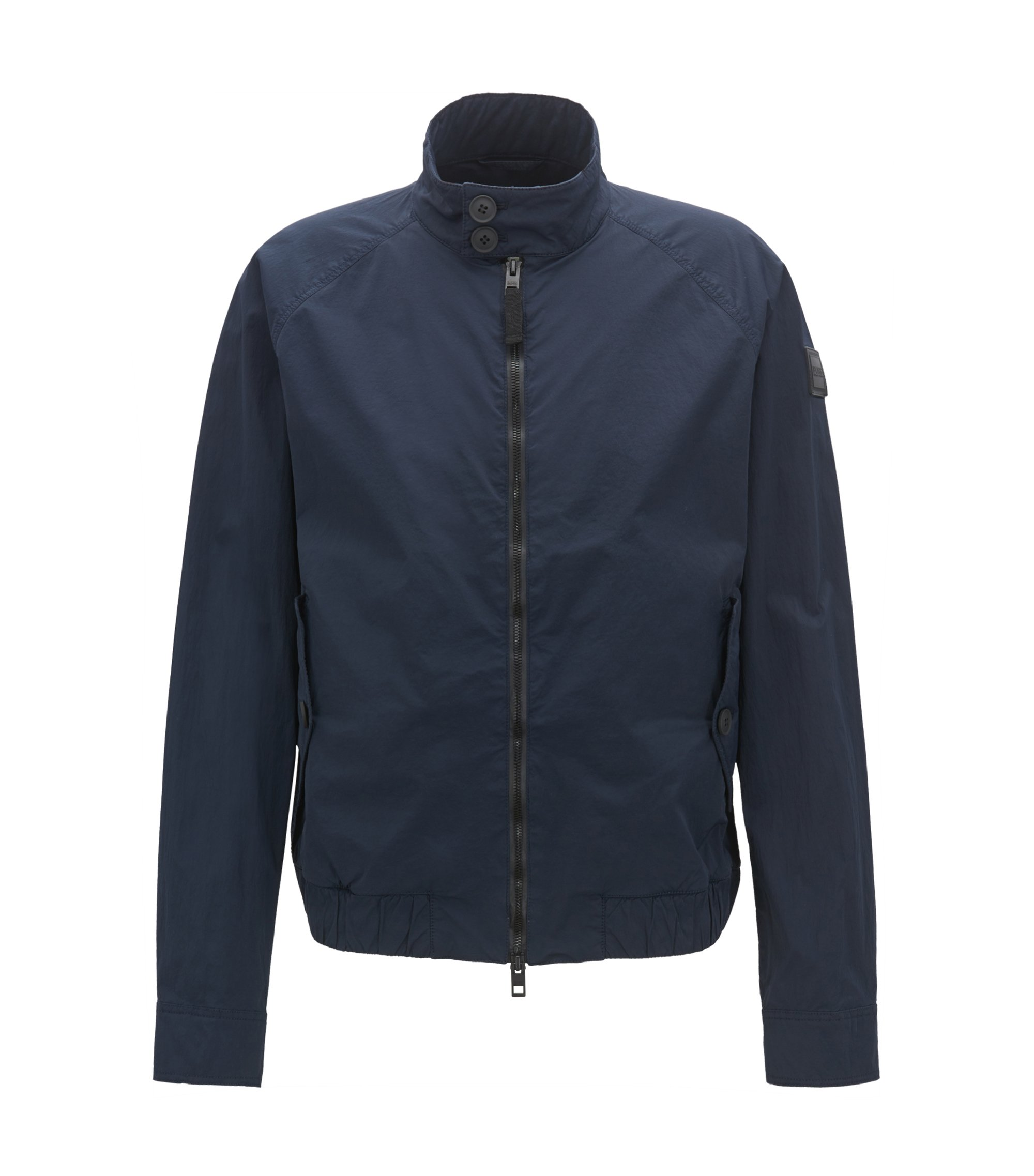 Lightweight jacket in wrinkle-effect stretch fabric, Dark Blue