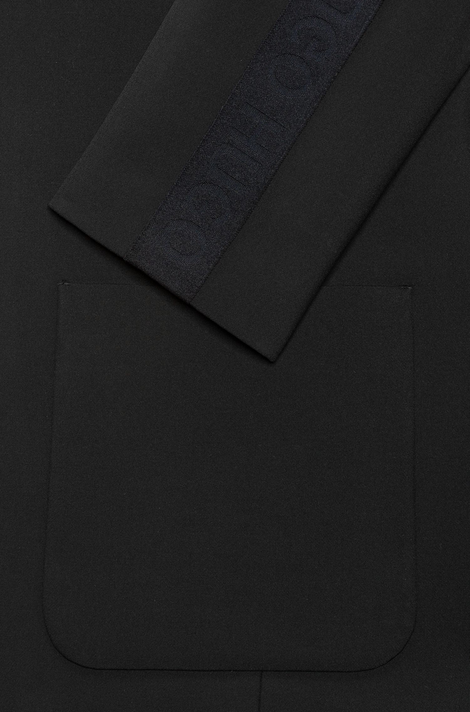 Slim-fit tailored jacket with logo taping