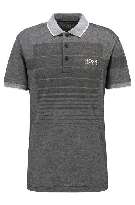 HUGO BOSS Polo à motif en coton mélangé avec col en maille piquée contrastante bFIH83lV