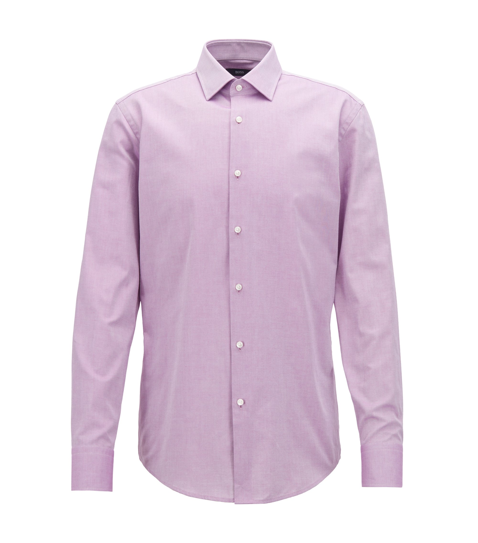 Slim-fit shirt in Royal Oxford cotton, Dark pink