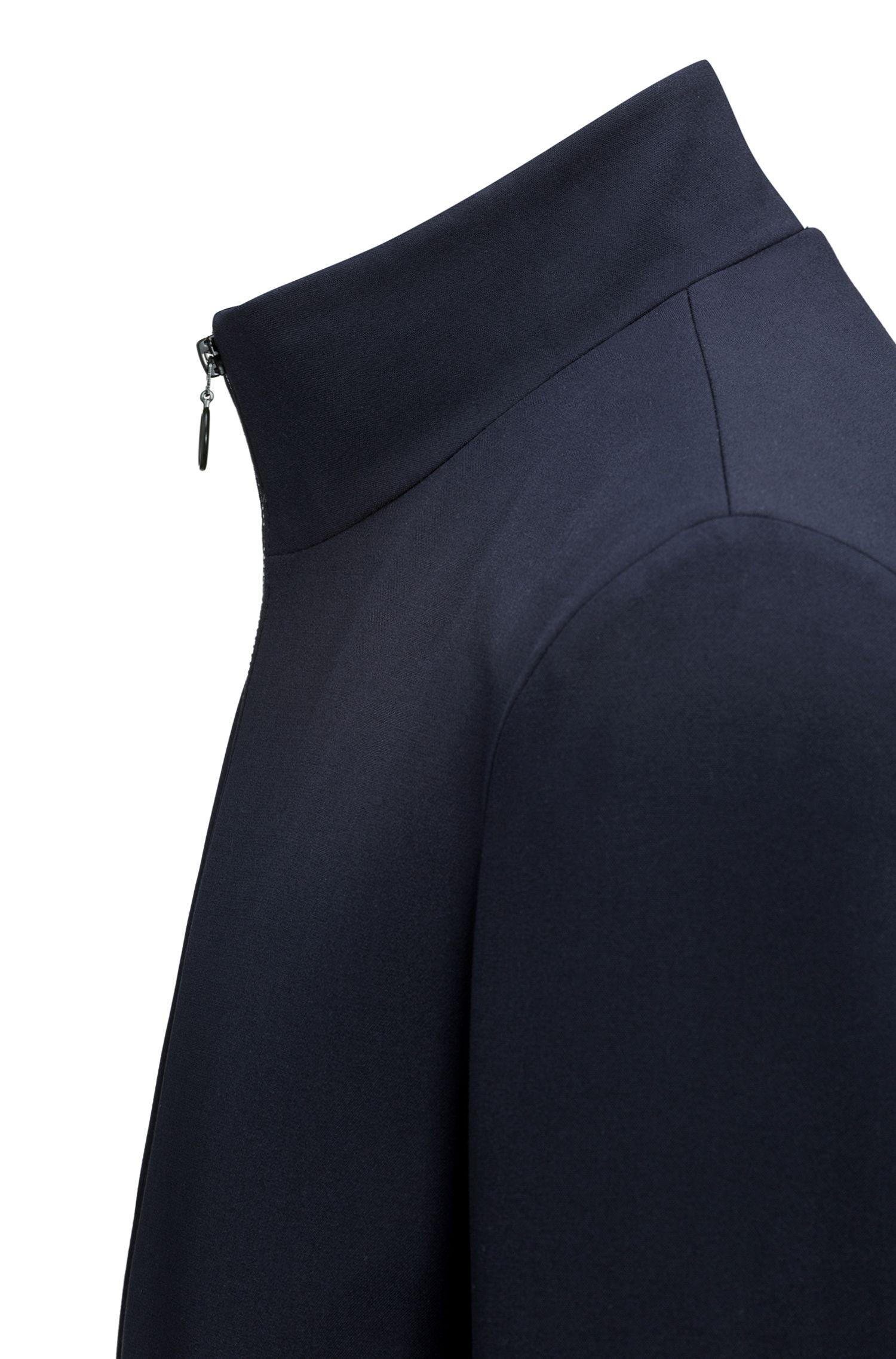 Giacca con zip integrale in tessuto tecnico elastico
