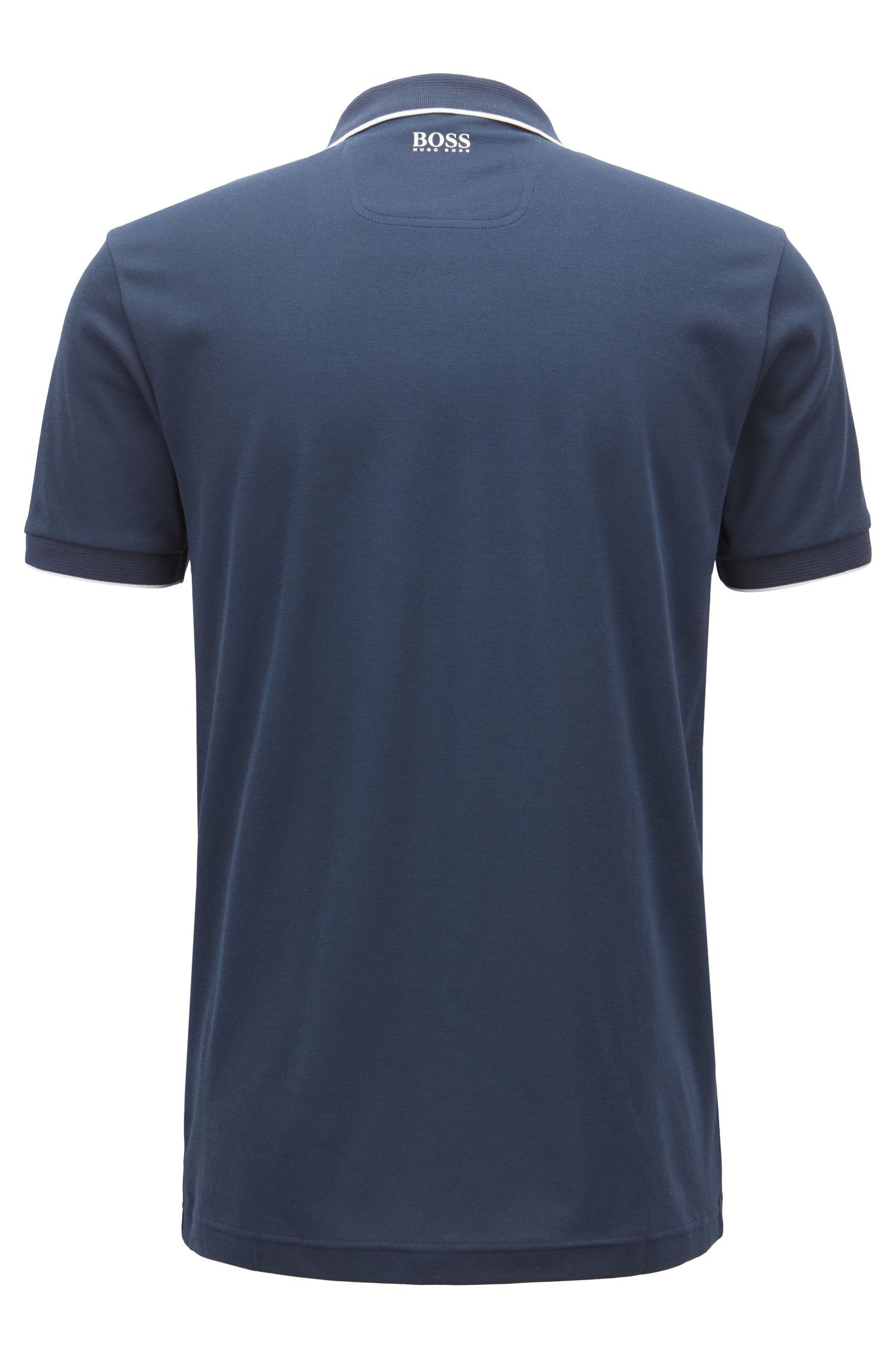 Slim-fit polo shirt with moisture management , Dark Blue