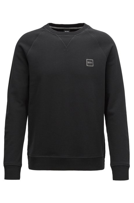 8be939b96 BOSS - French-terry sweatshirt with logo patch