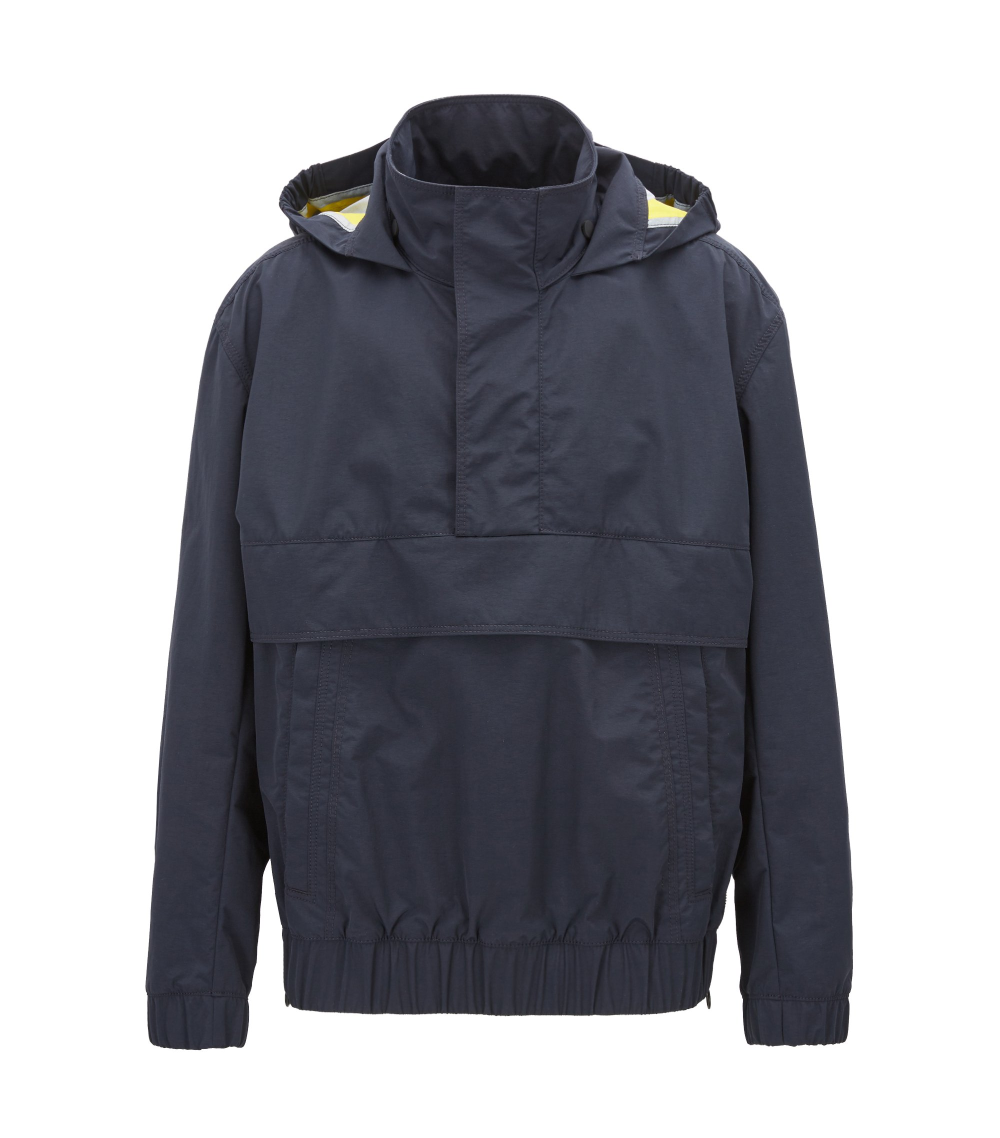 Waterproof overhead jacket in two-layer Italian fabric, Dark Blue