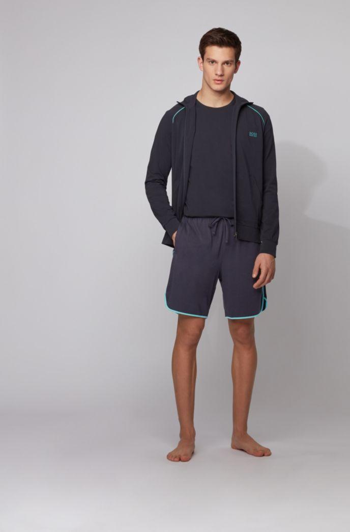 Loungewear-Shortsaus Single Jersey mit kontrastfarbenen Paspeln