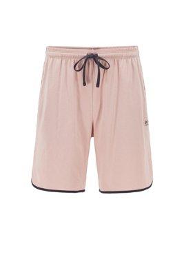 Loungewear-Shortsaus Single Jersey mit kontrastfarbenen Paspeln, Hellrosa