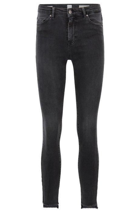 Skinny-fit cropped jeans in grey power-stretch denim BOSS BDopD
