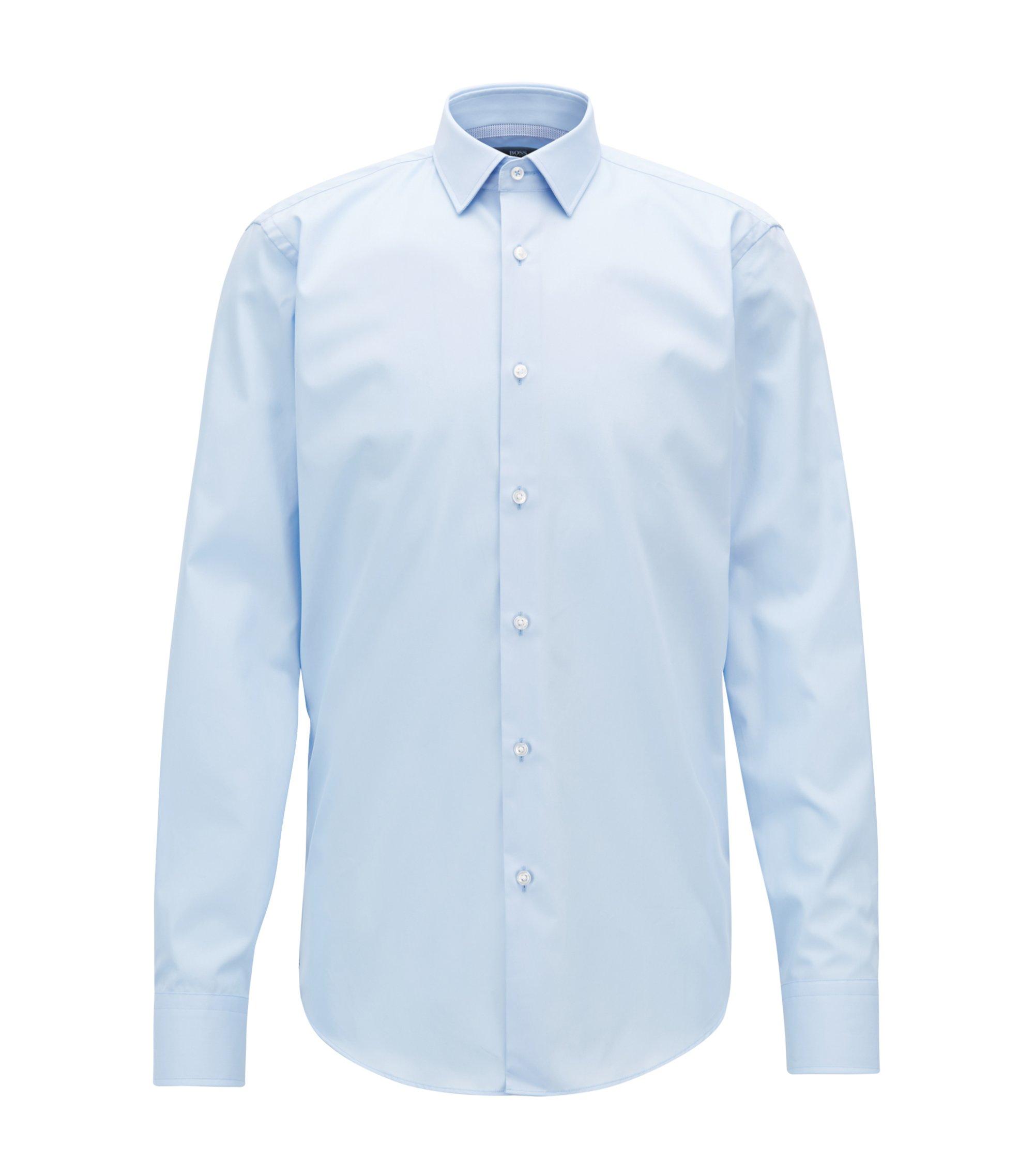 Chemise Regular Fit facile à repasser, ornée de détails contrastants, Bleu vif
