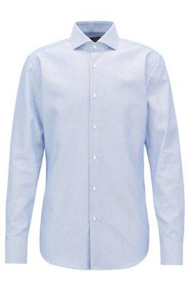 Striped slim-fit shirt in satin-finish cotton HUGO BOSS Cheap Sale Free Shipping Cheap Best Place Clearance Footlocker IGWDHmAQW