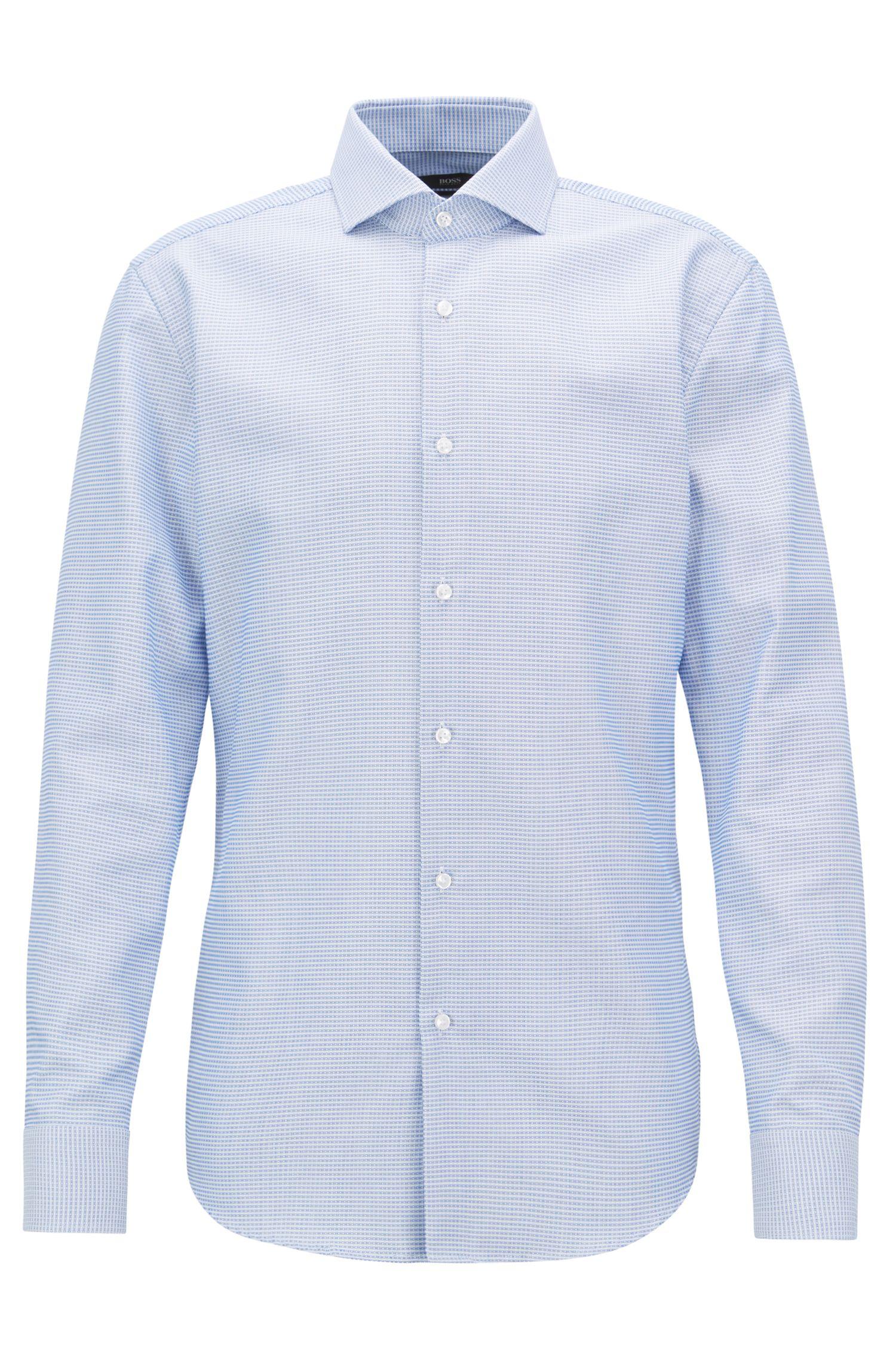 Slim-Fit Hemd aus Baumwolle mit Fresh Active Finish