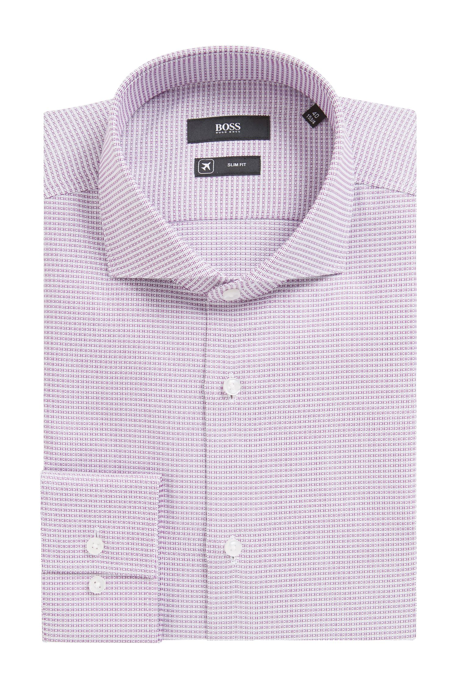 Slim-fit shirt in cotton with Fresh Active finishing