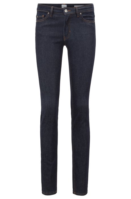 Slim-Fit Jeans aus Power-Stretch-Denim, Dunkelblau