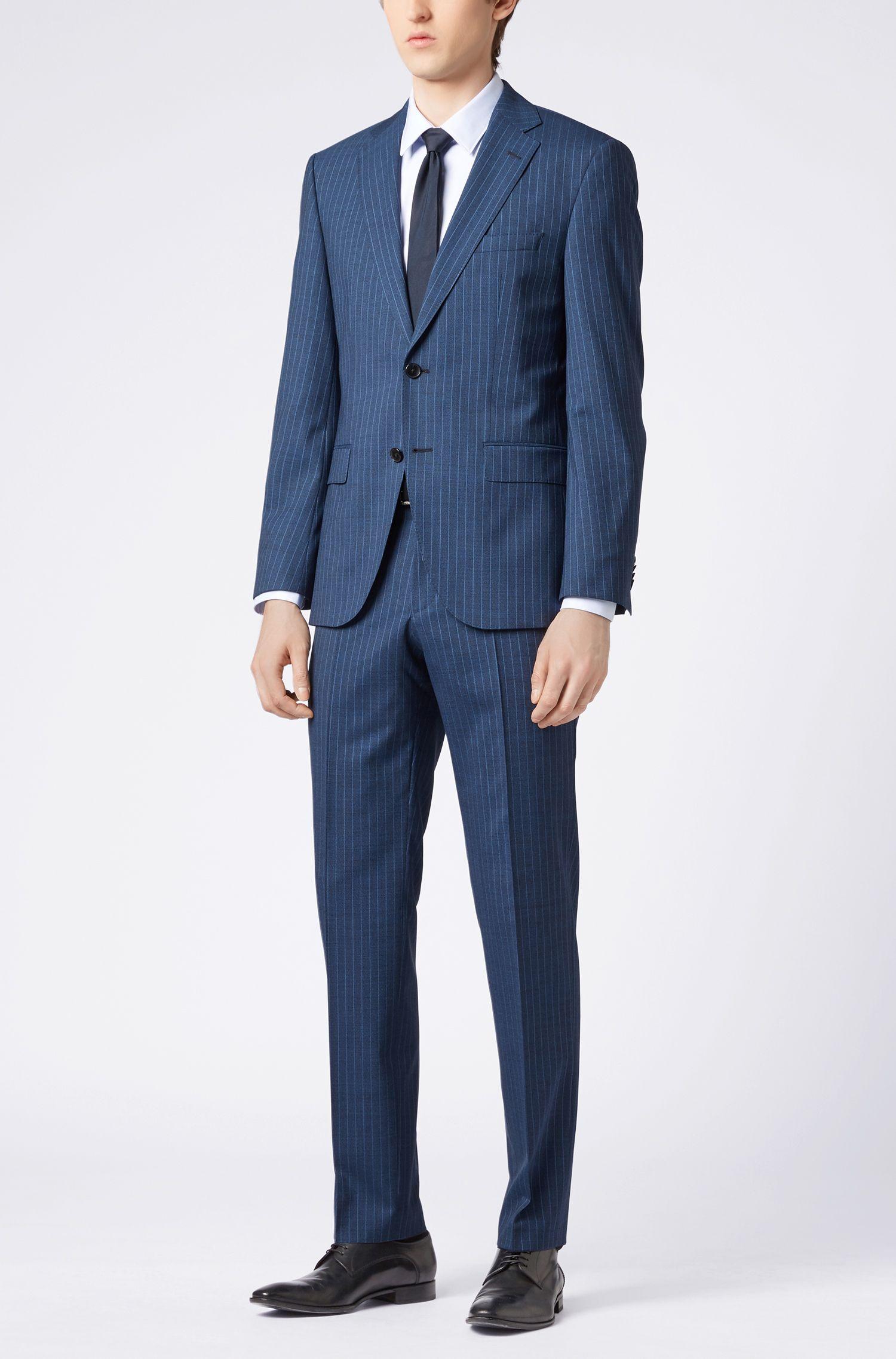 Regular-fit overhemd van Fresh Active-katoen, Lichtblauw