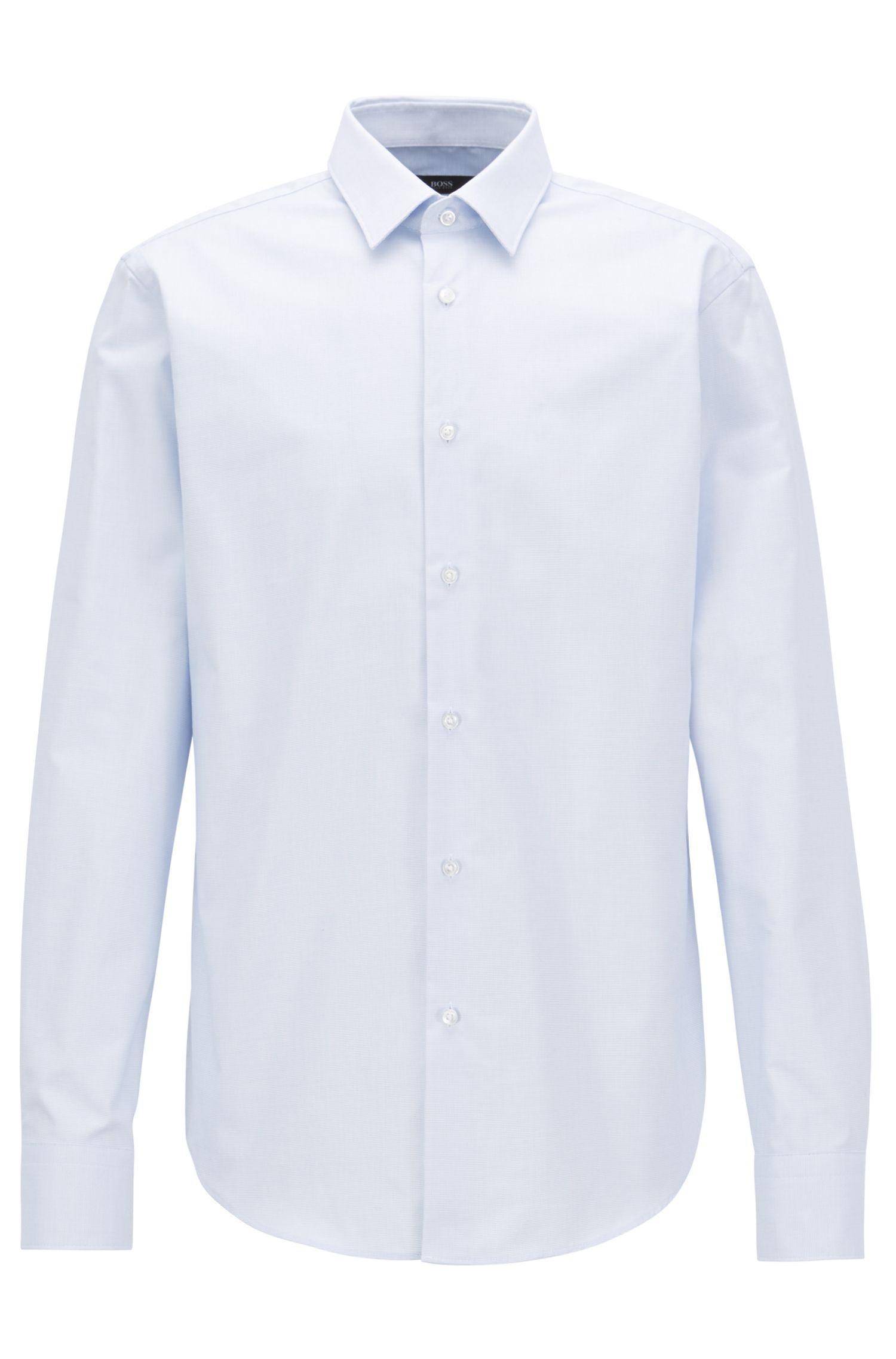 Regular-fit shirt in Fresh Active cotton, Light Blue