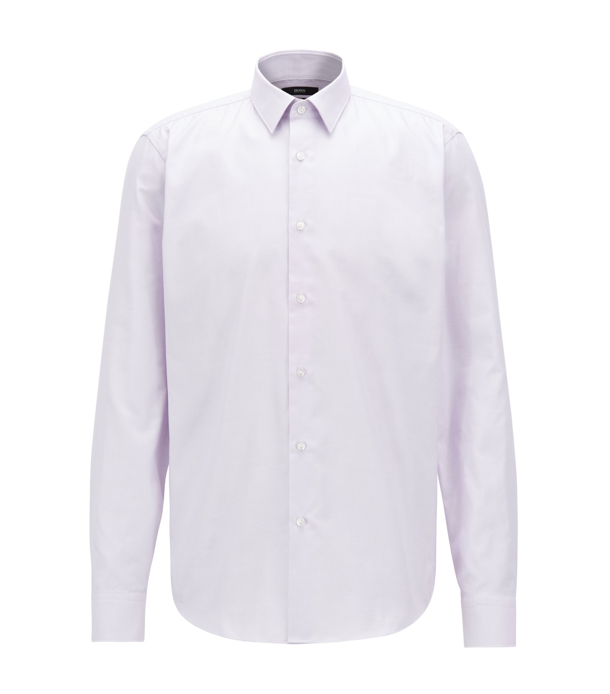 Regular-fit shirt in Fresh Active cotton, Light Purple