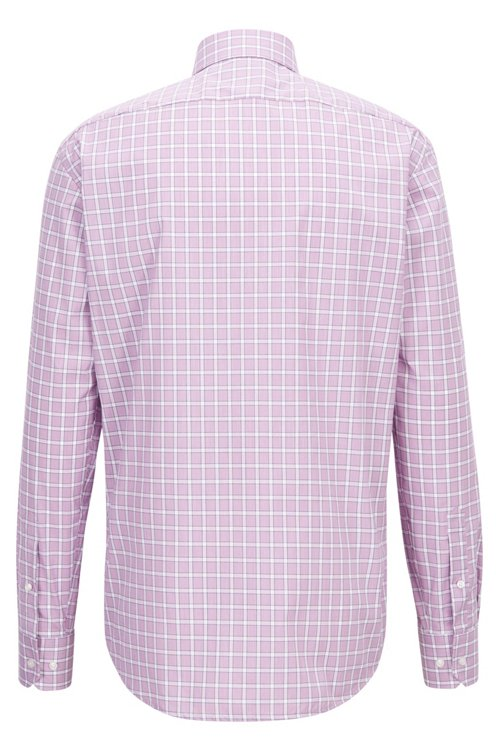 Hugo Boss - Regular-fit easy-iron shirt in Vichy check cotton - 3