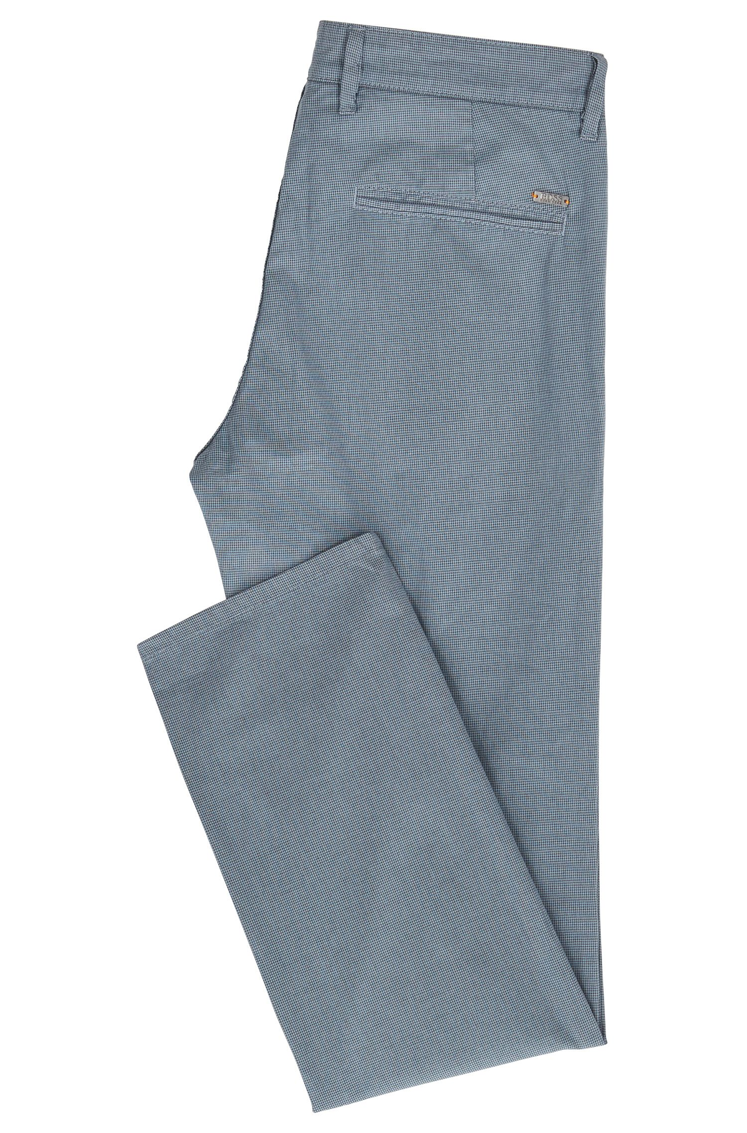 Slim-Fit Chino aus Stretch-Baumwolle mit dezentem Muster
