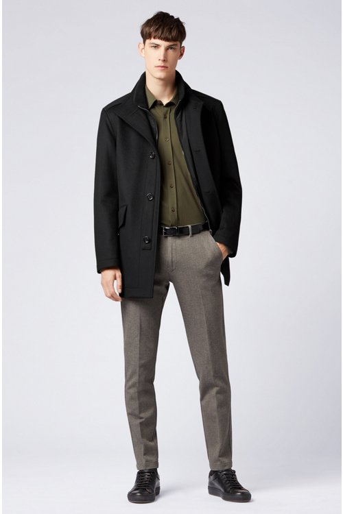 Hugo Boss - Relaxed-fit car coat in virgin wool and cashmere - 2