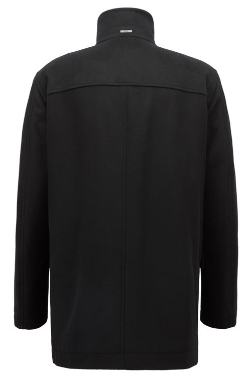 Hugo Boss - Relaxed-fit car coat in virgin wool and cashmere - 3
