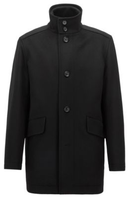And Coat Boss Wool Virgin Cashmere In Car - Relaxed-fit