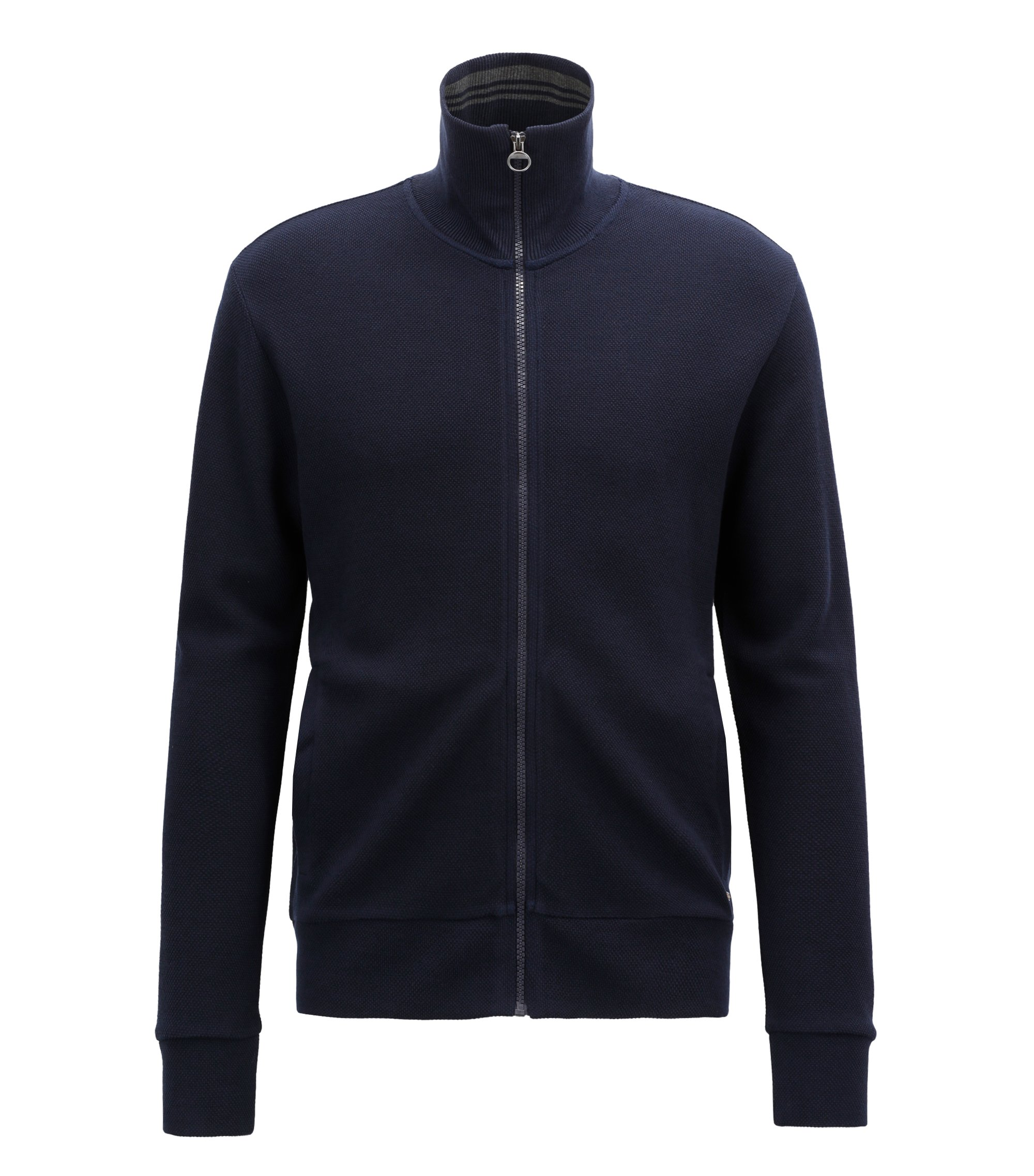 Lightweight jacket in technical fabric with zip front, Dark Blue