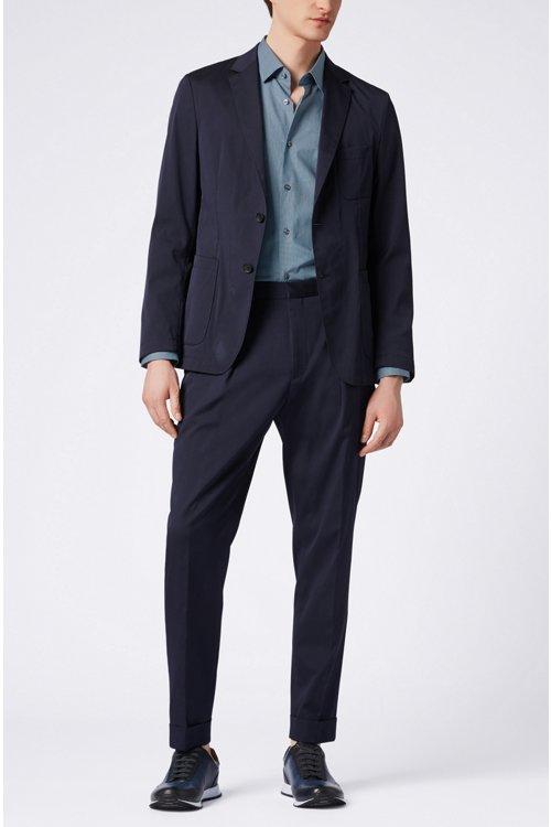 Hugo Boss - Slim-fit shirt in all-over-print Italian cotton - 2