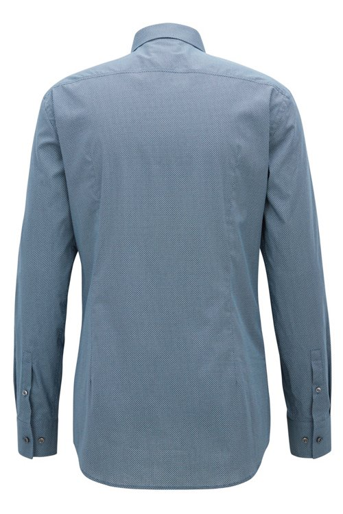 Hugo Boss - Slim-fit shirt in all-over-print Italian cotton - 3