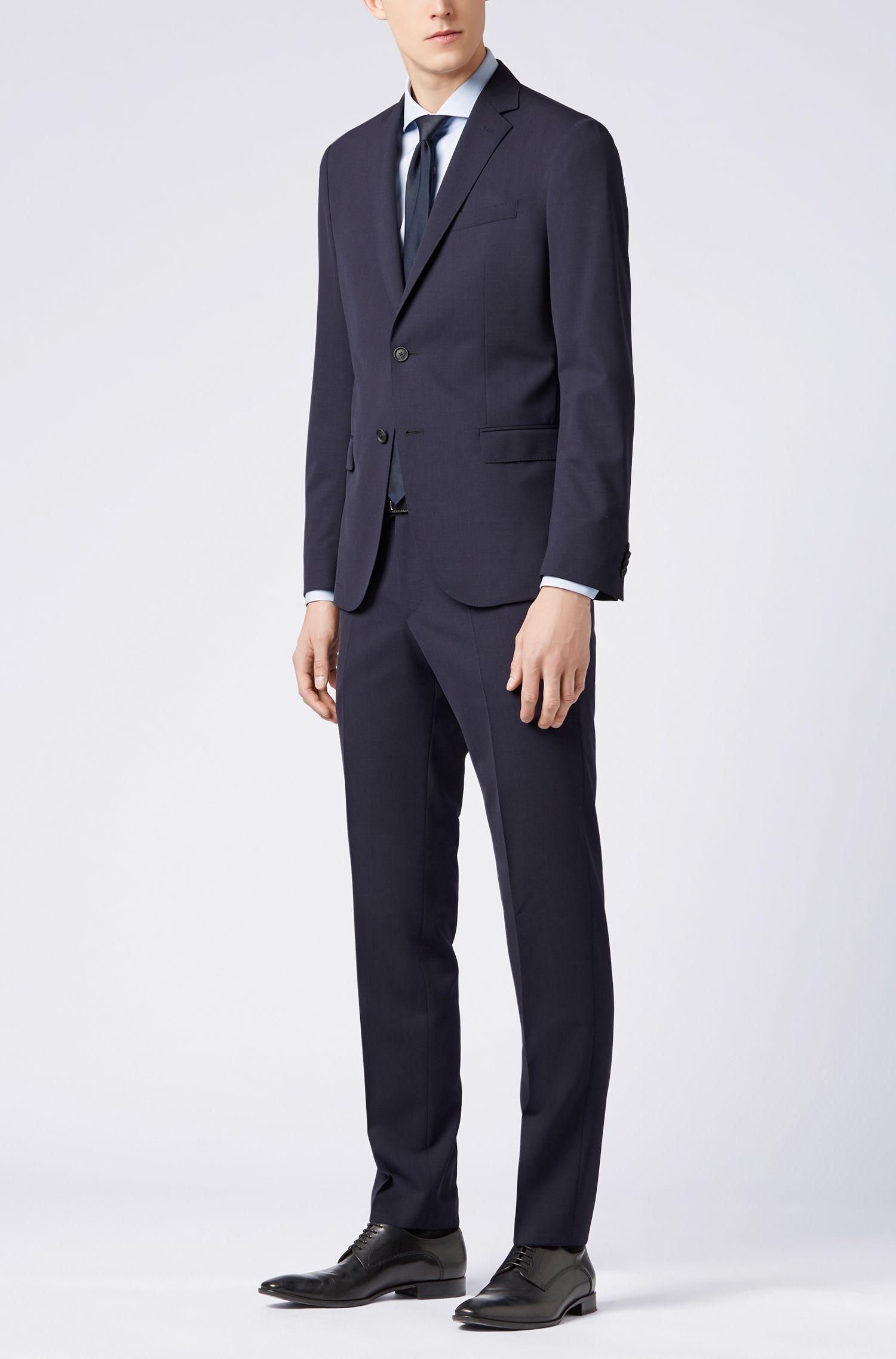 Slim-Fit Hemd aus italienischer Vollzwirn-Baumwolle, Hellblau