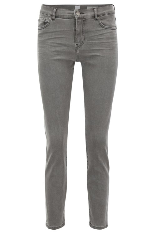 Hugo Boss - Slim-fit grey jeans with silver foil-print detail - 1