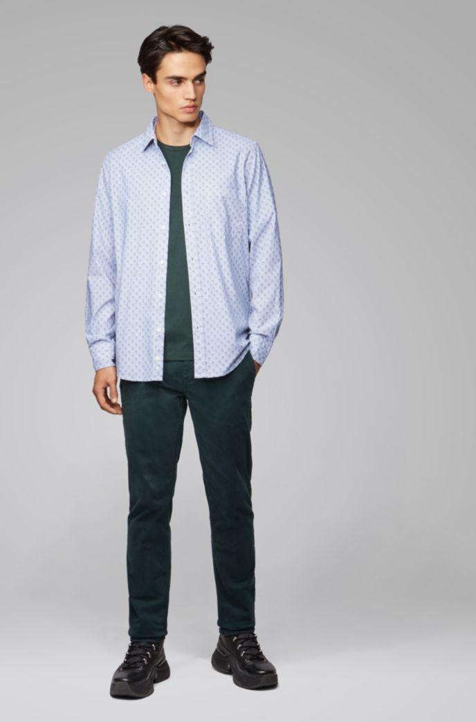 Camiseta de cuello redondo en punto sencillo de algodón