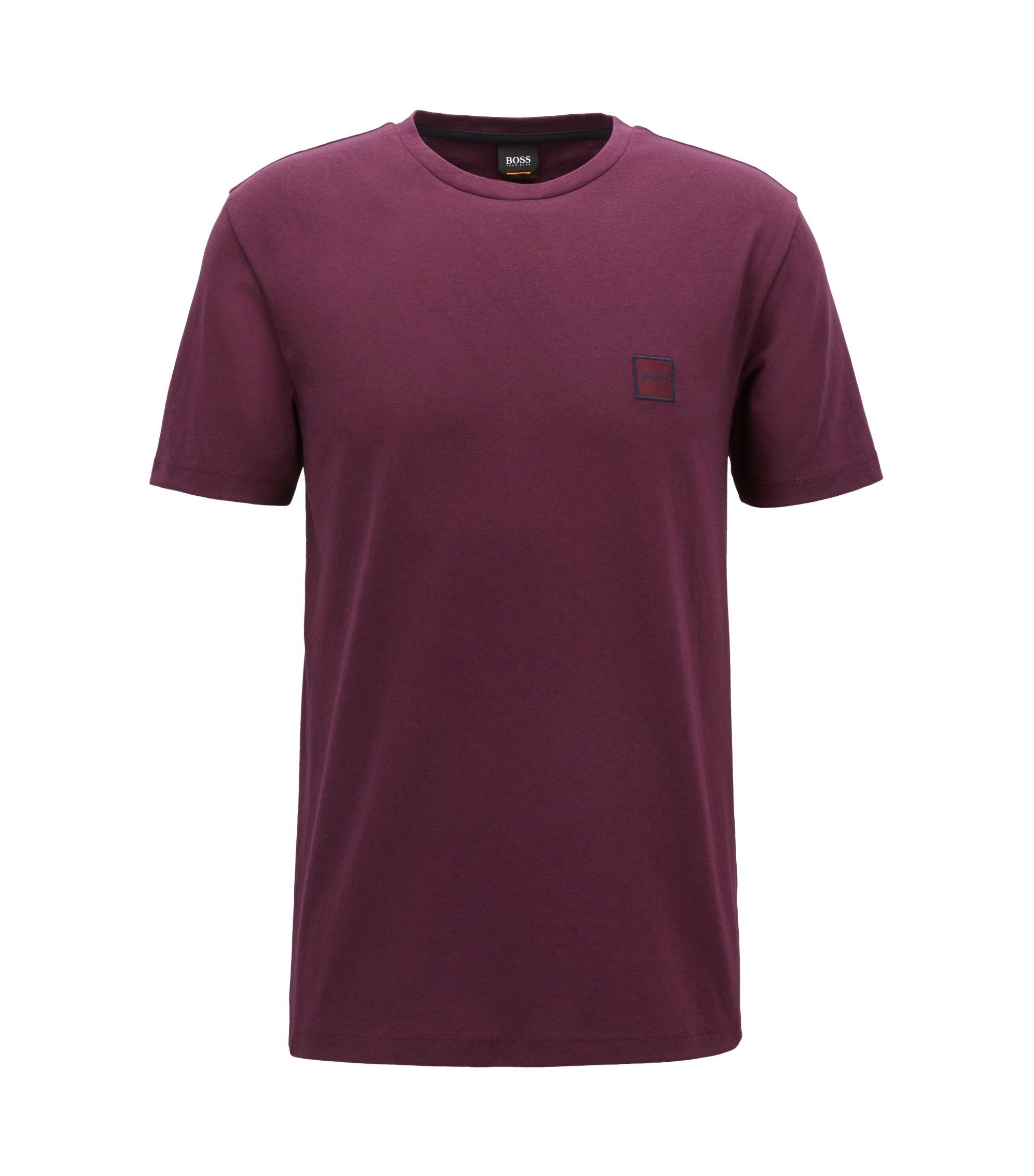Crew-neck T-shirt in single-jersey cotton, Light Purple