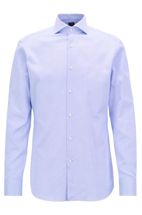 133238de08bf8 BOSS - Chemise Slim Fit BOSS Tailored en coton italien façonné
