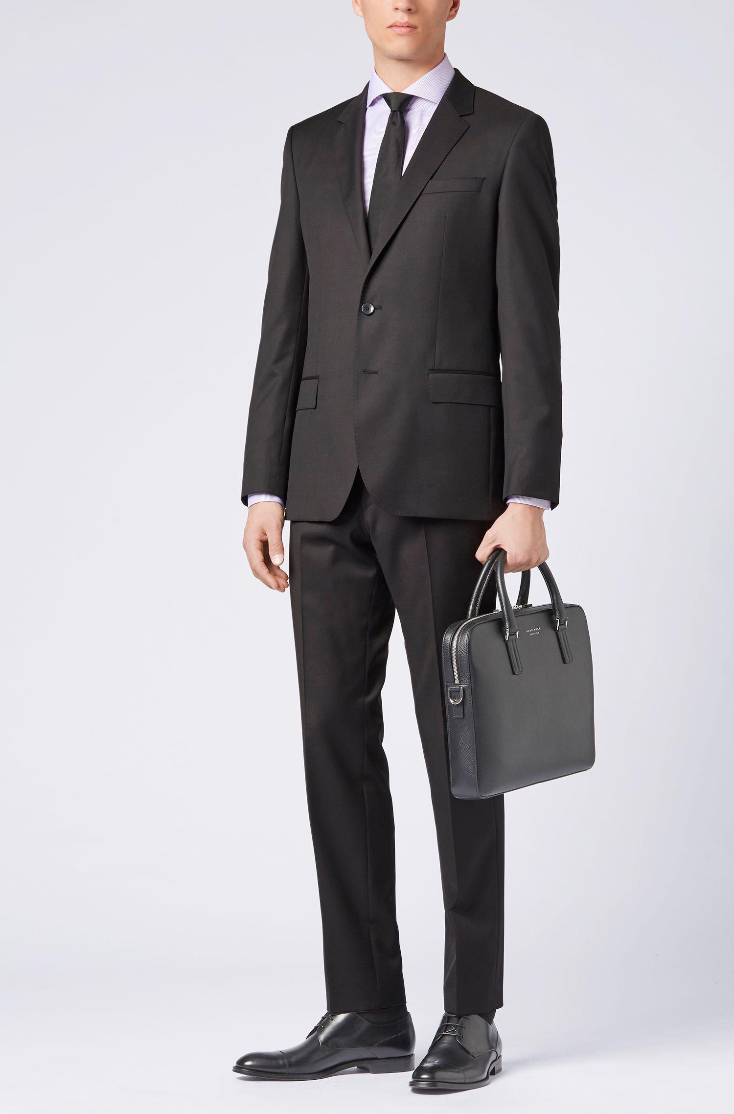 BOSS Tailored slim-fit overhemd van Italiaanse dobbygeweven katoen, Donkerroze