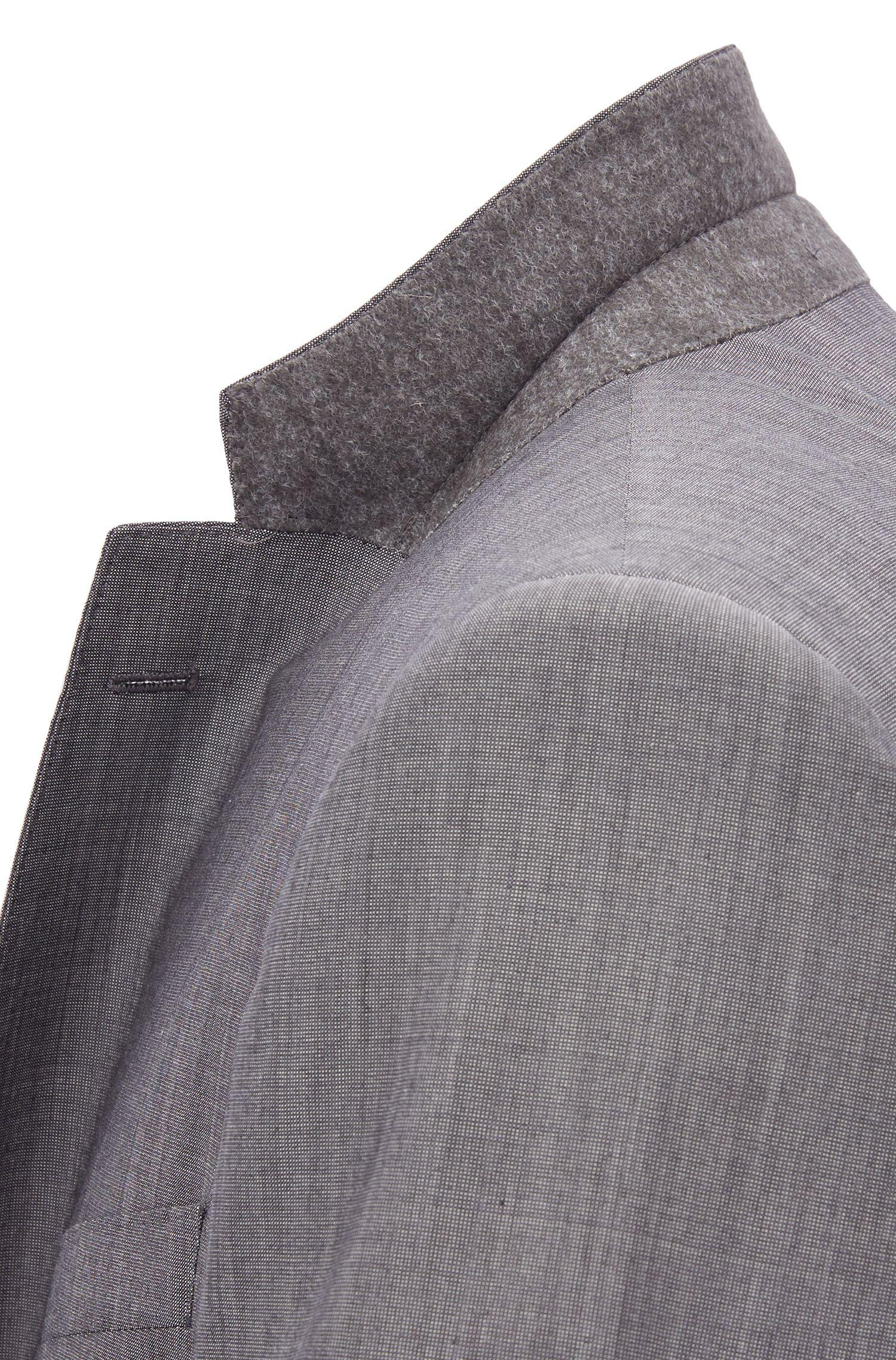 Traje con chaleco slim fit en mezcla de lana virgen