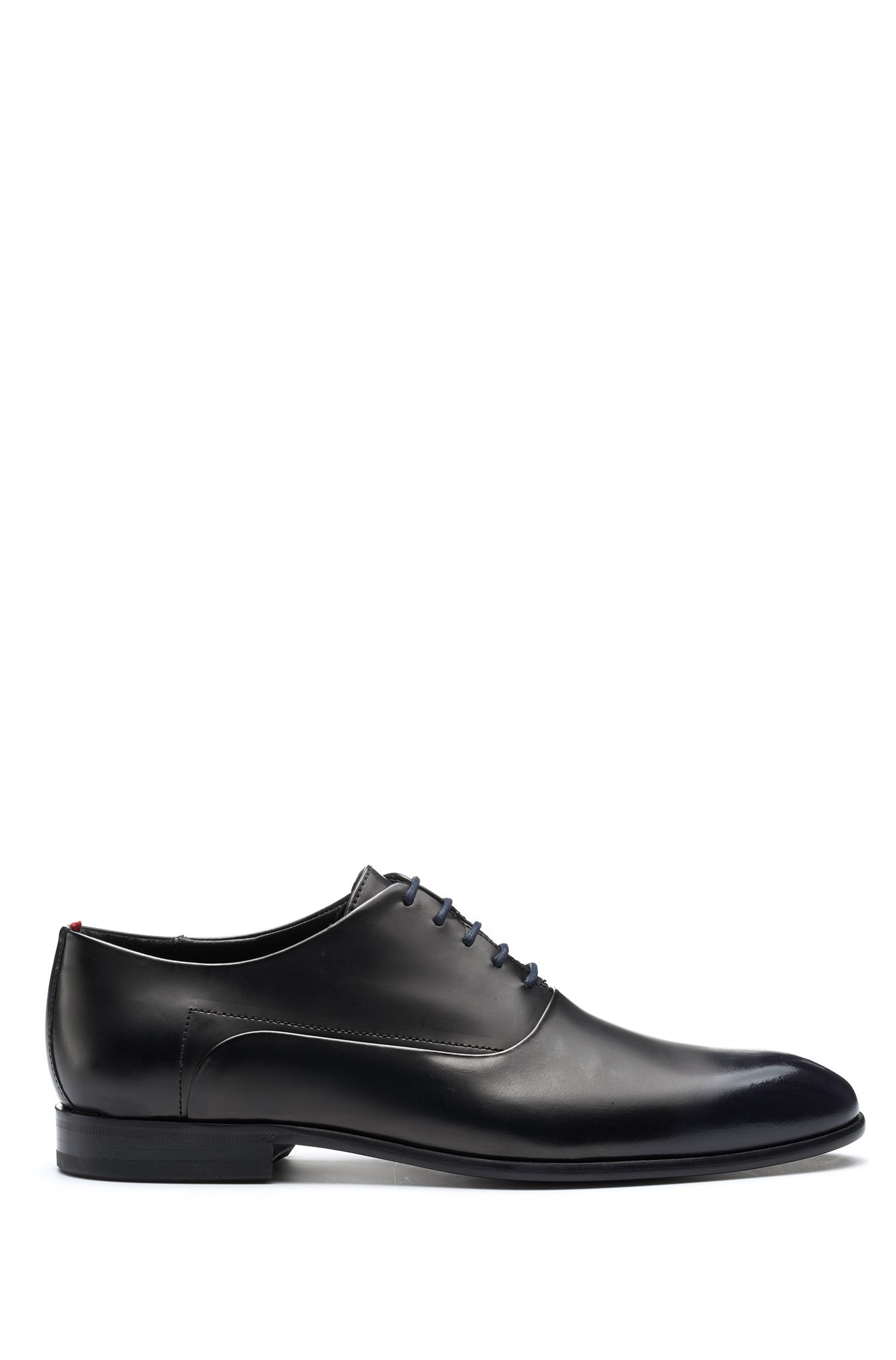 Oxford shoes with brush-off leather uppers, Dark Blue