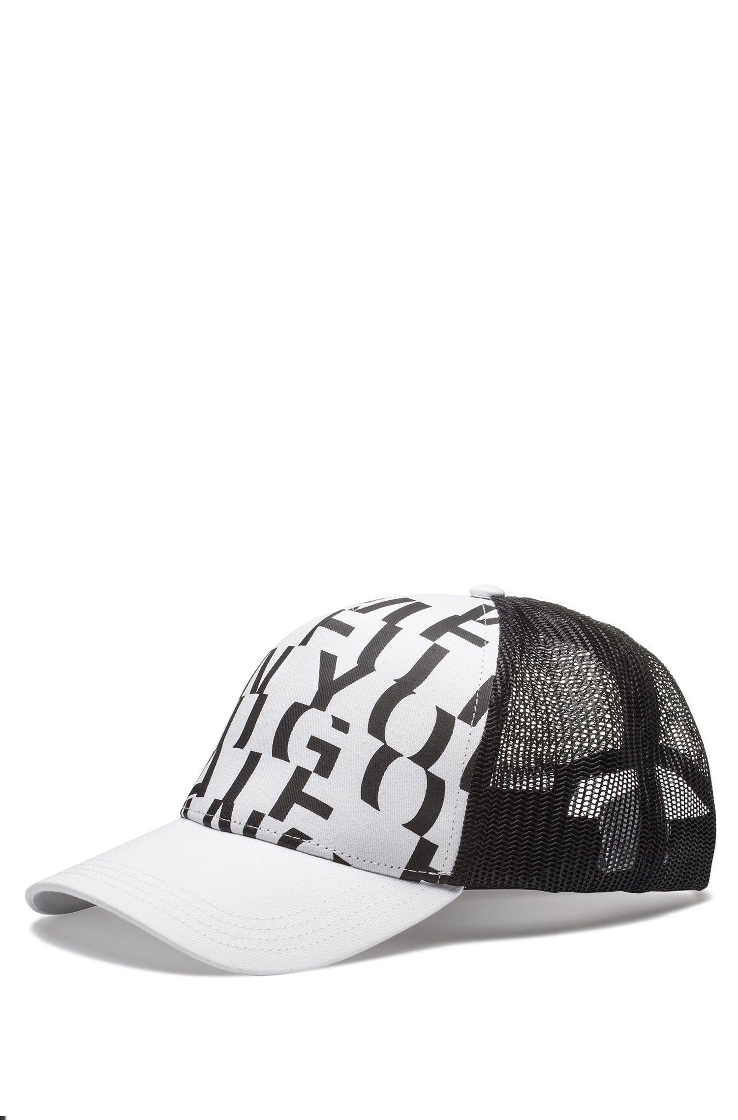 Hugo Boss - Cotton-gabardine cap with abstract slogan - 1
