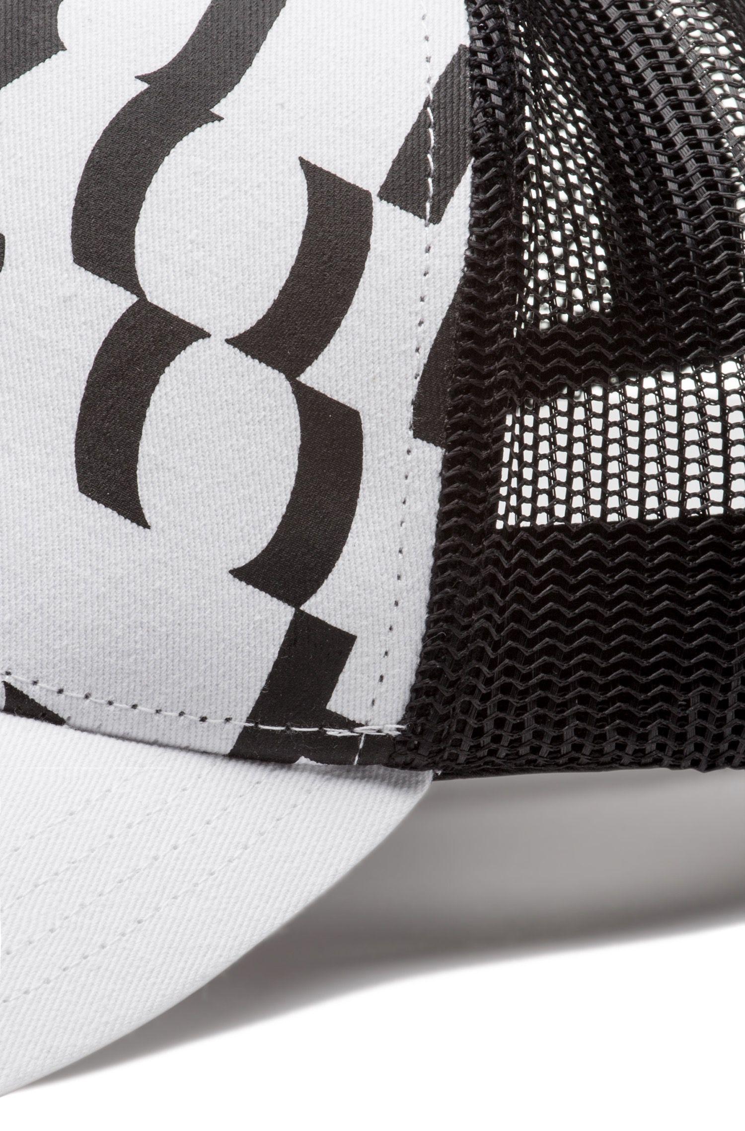 Hugo Boss - Cotton-gabardine cap with abstract slogan - 3