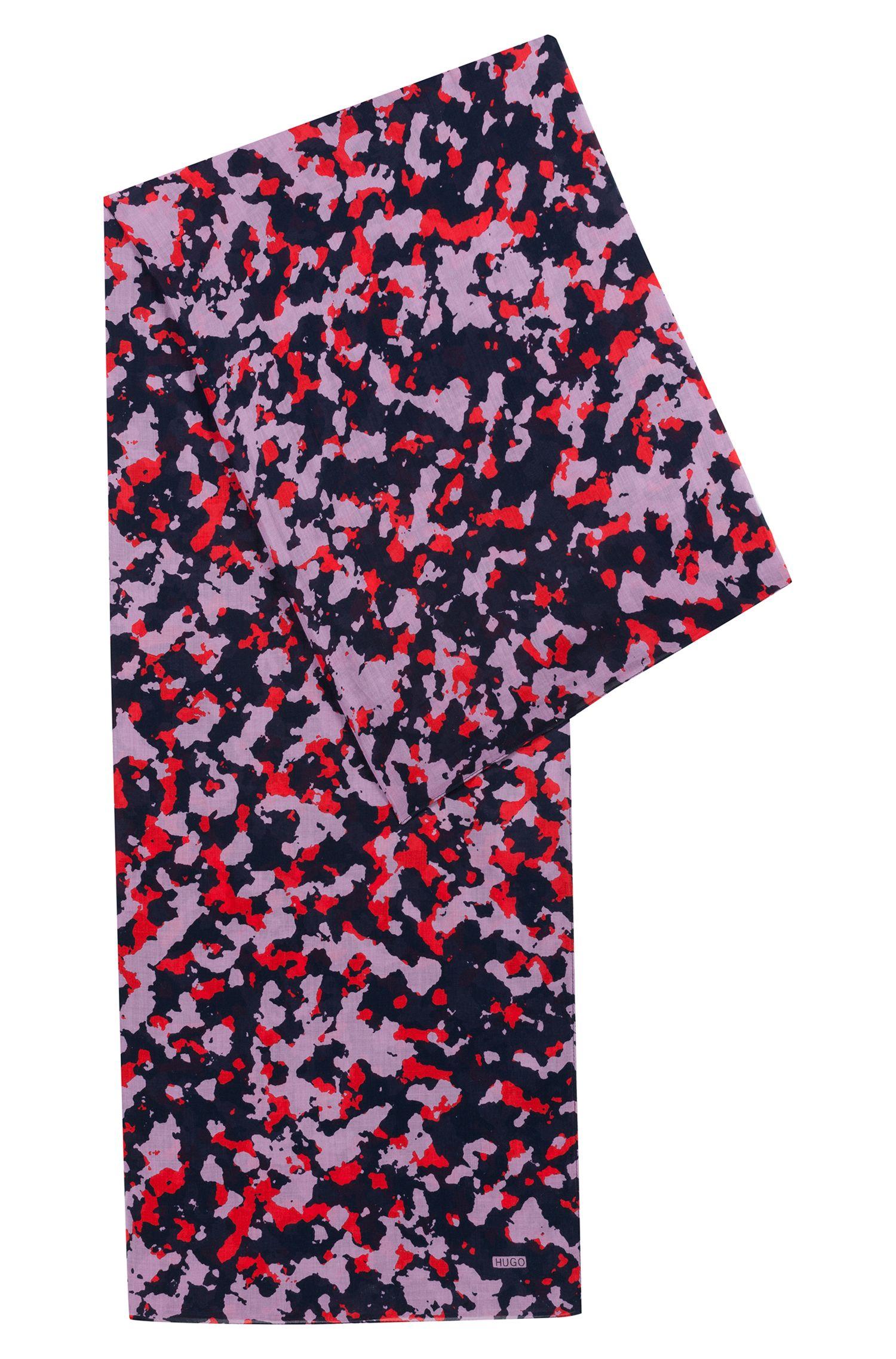 Écharpe en coton léger à imprimé camouflage
