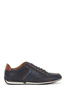 BOSS Hugo Boss Low-top sneakers in nylon leather details 11 Dark Red Wholesale Price Cheap Price The Cheapest Online Cheap Cheap Online Purchase Your Favorite ahGzGA