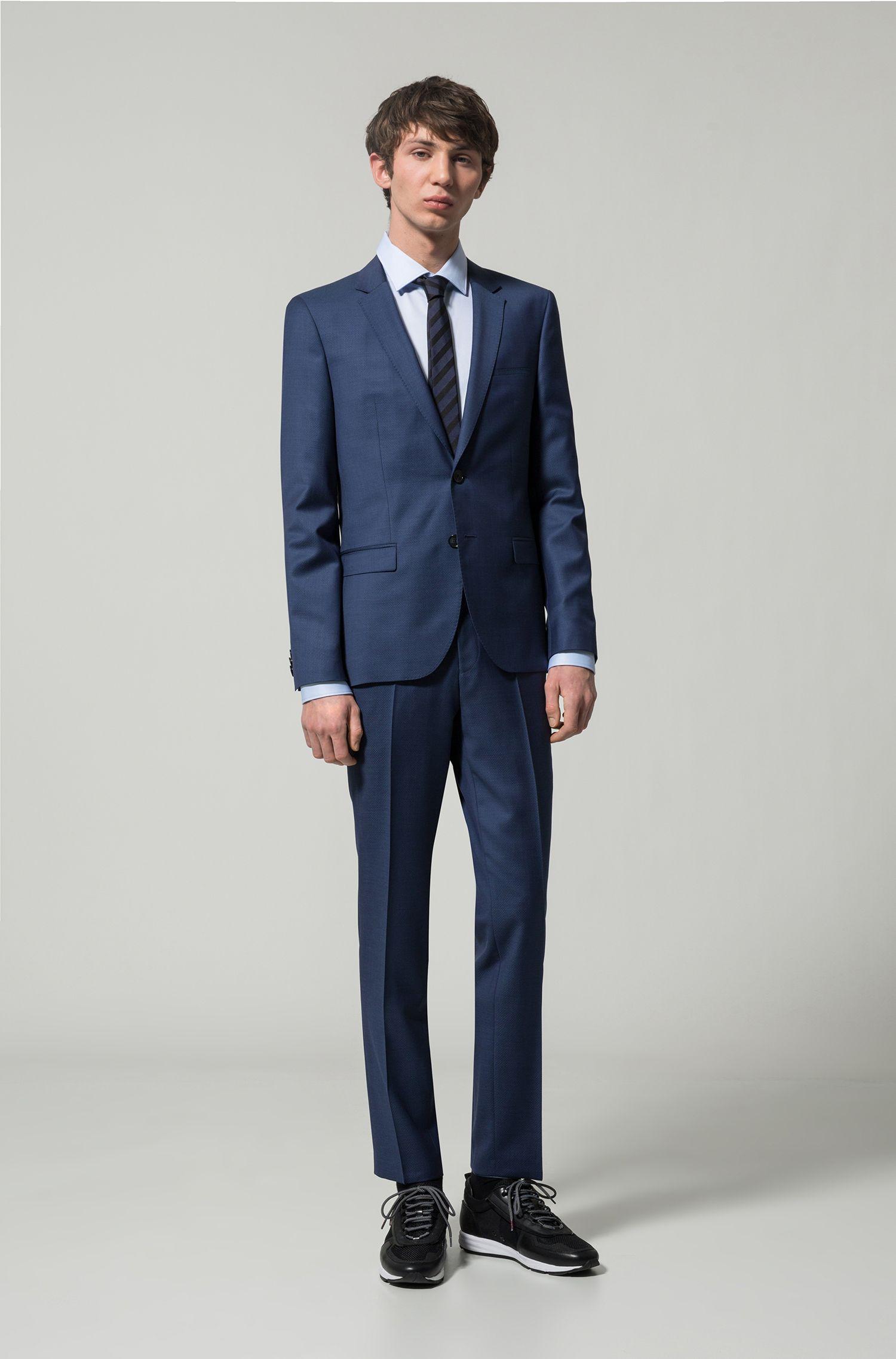 Extra Slim-Fit Anzug aus gemusterter Schurwolle