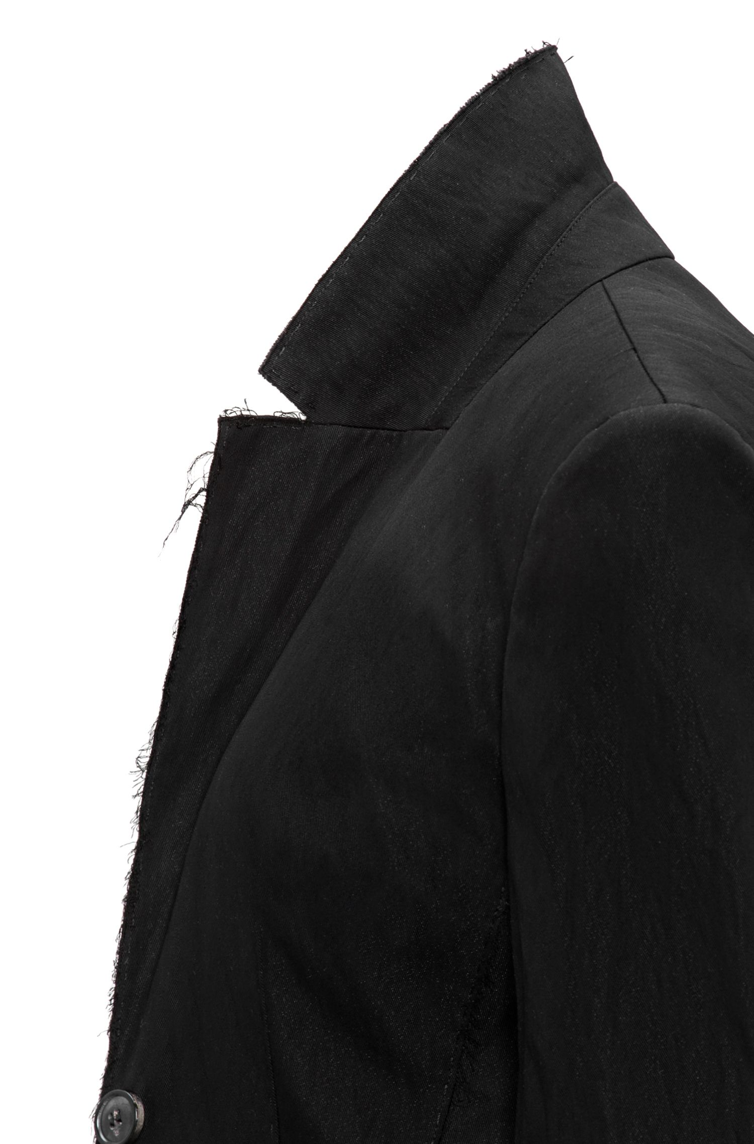 Lange oversized-fit jas met onafgewerkte accenten