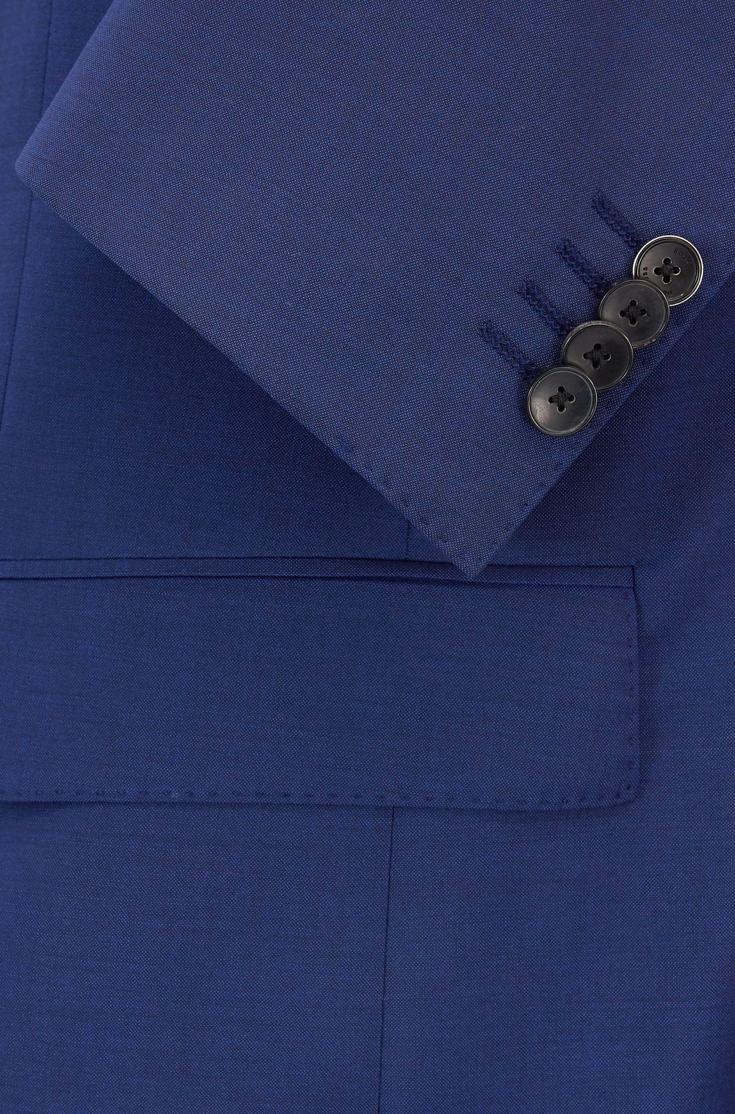 Garngefärbter Slim-Fit Anzug aus natürlich elastischer Schurwolle