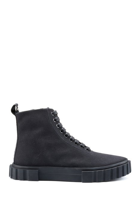 High-top trainers in cotton canvas HUGO BOSS NJVsiSR7mP