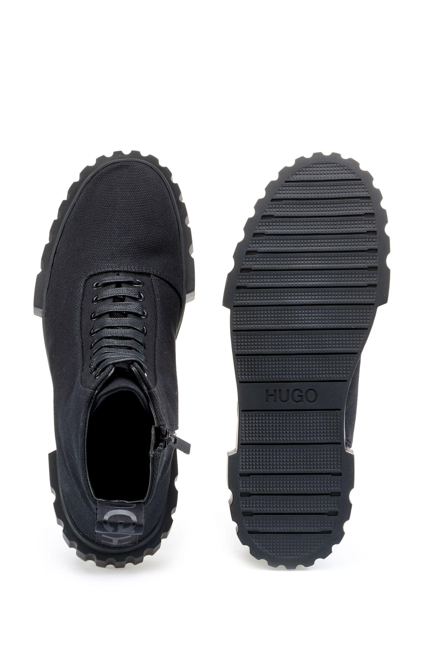 Hugo Boss - Baskets montantes en toile de coton - 4