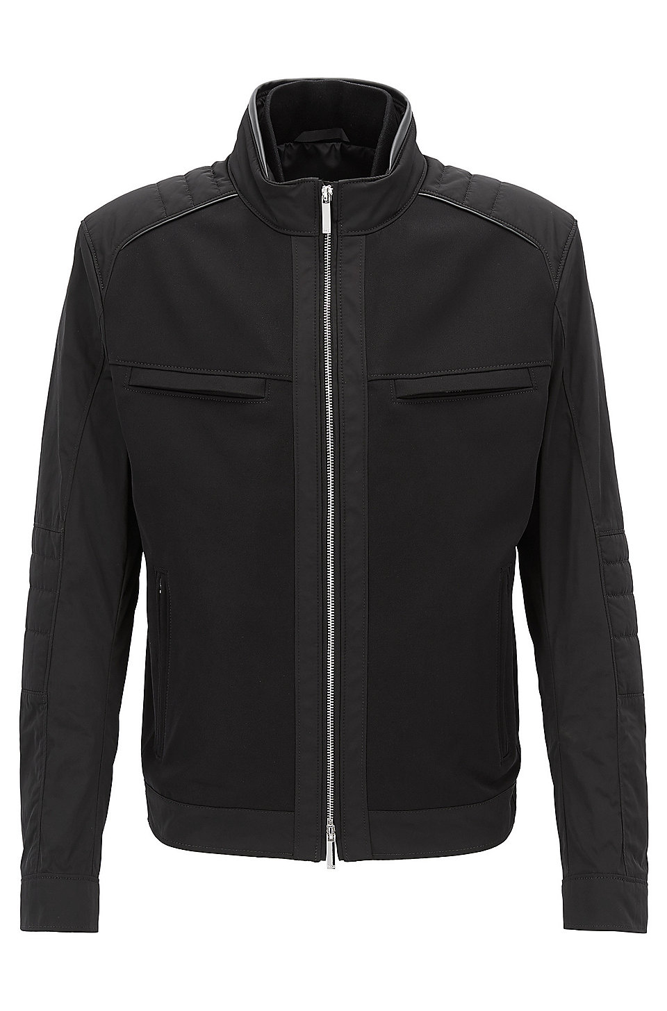Mercedes-Benz Collection blouson jacket in technical fabric, Black
